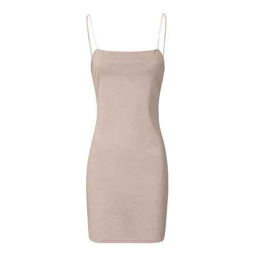 Fashion Women Sexy Sequins Camisole Sleeveless Strapless  Solid Tight Mini Dress