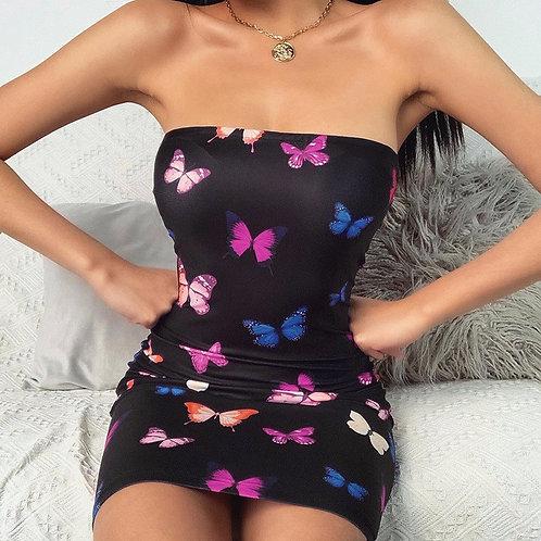 2020 New Women's Fashion Butterfly Street Dresses New Nightclub Tight-Fit Sexy