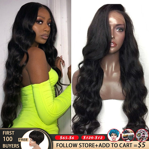 30 32 Inch 180 Density Body Wave Wig Lace Front Wigs for Black Women 360 Lace