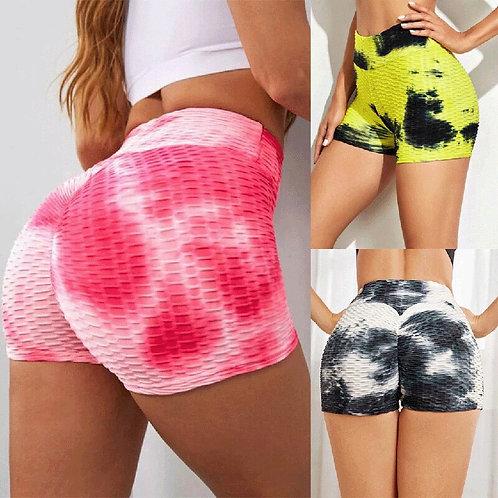 Printed Shorts Women Sexy Push Up Fitness Short Legging High Waist Gym Trunks