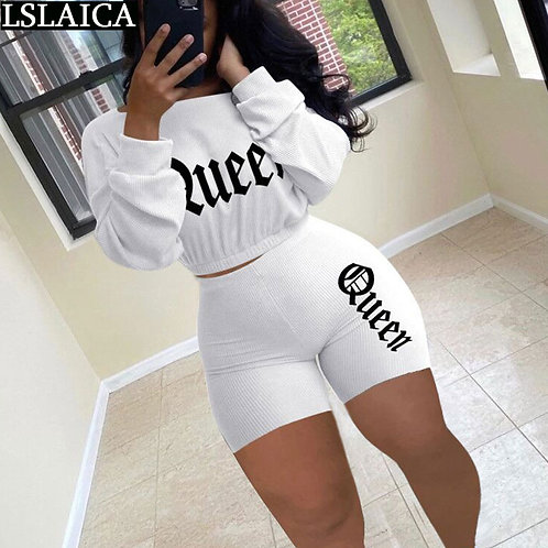 Clothes for Women Skinny Fashion New Two Piece Set Top and Pants Elastic Waist L
