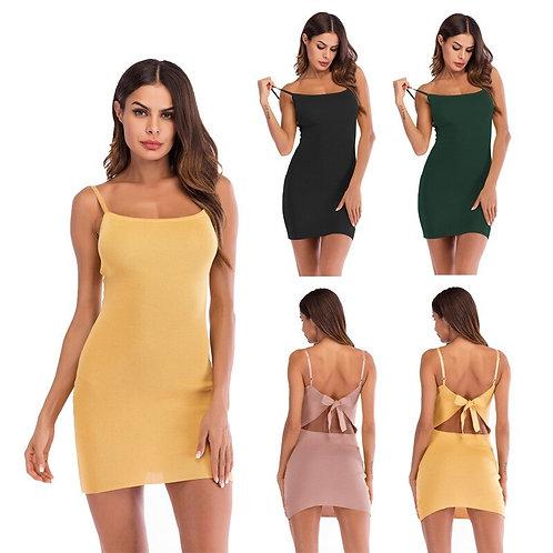 Women Dress Sleeveless Bodycon Tight Dress Party Short Mini Dresses