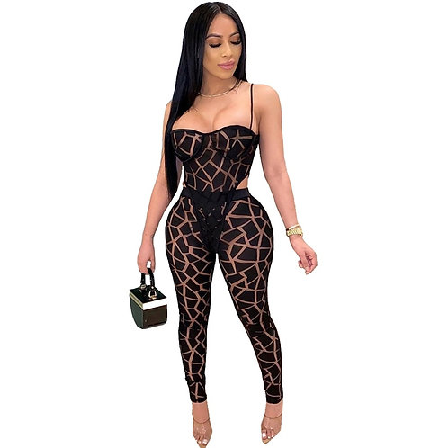 Women Tracksuit Black White Sexy 2 Piece Matching Sets Summer Clothes Fitness Bo