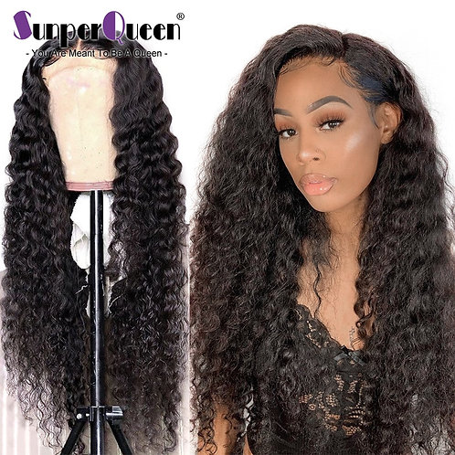 Curly Human Hair Wig Fake Scalp Wig Curly Lace Front Wig Curly Wig Remy Hair