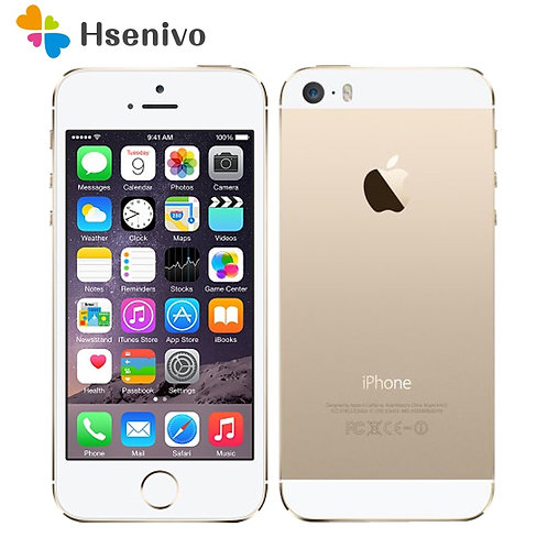 "Apple iPhone 5S Original Cell Phones Dual Core 4"" IPS Used Phone 8MP 1080P Smart"