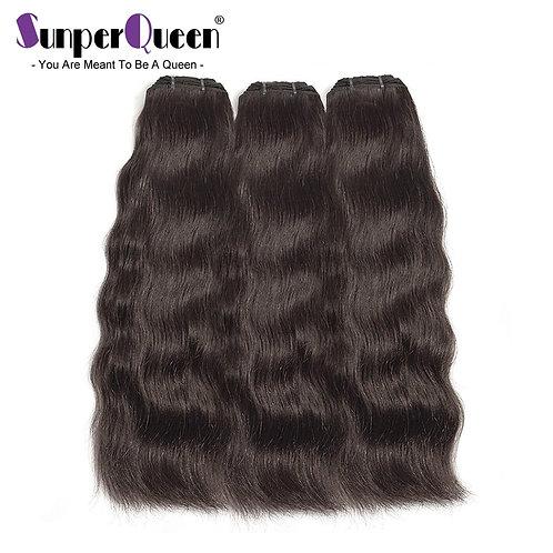 Raw Indian Mink Virgin Hair Human Bundles Natural Straight Surfing Wave