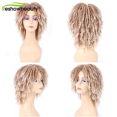 Dreadlocks Wig Hair Extension Wig Machine Made Synthetic Wig Ombre Box