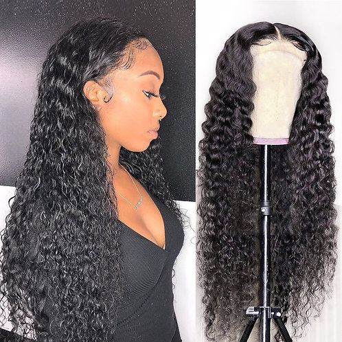 Curly Lace Front Human Hair Wigs 13x4 Deep Wave Lace Frontal Wig for Black Women