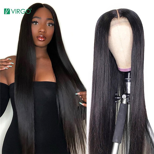 Virgo 4x4 Closure Wig Lace Closure Wig Straight Lace Front Wig 150% Remy 30 Inch