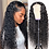 Thumbnail: 13x4 Curly Lace Front Human Hair Wigs Deep Wave Wig Brazilian Remy Hair Pre