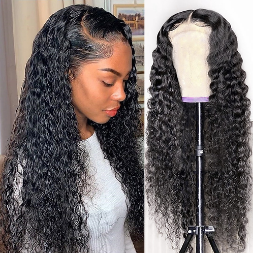13x4 Curly Lace Front Human Hair Wigs Deep Wave Wig Brazilian Remy Hair Pre