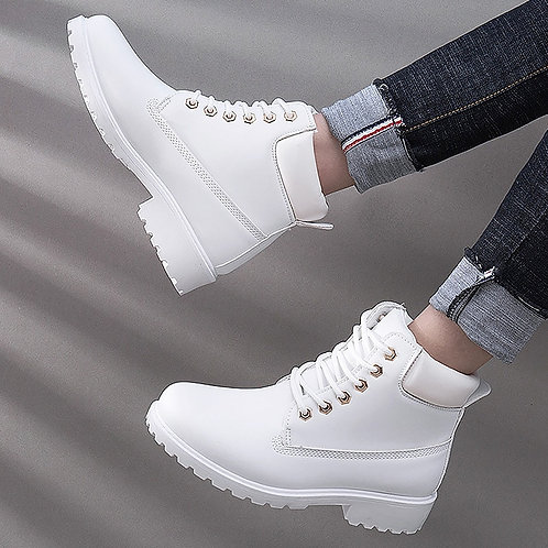 Platform Sneakers Shoes Women Snow Boots 2021 Winter Boots Women Shoes Lace-Up