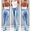 Thumbnail: Jeans Woman Causal Washed Ripped Hole Ladies High Waist Jeans Vintage Skinny