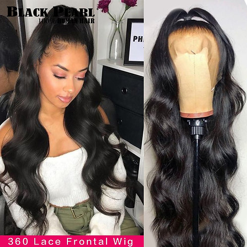 Black Pearl Body Wave Lace Front Wig 30 Inch 360 Body Wave Fronal Wig Brazilian