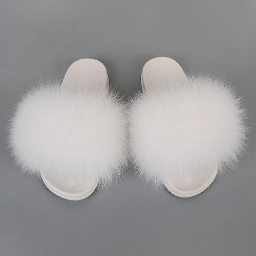 Fur Slides Women Fluffy Sandals Summer Woman Shoes Flat Plush Furry Sesale Mujer