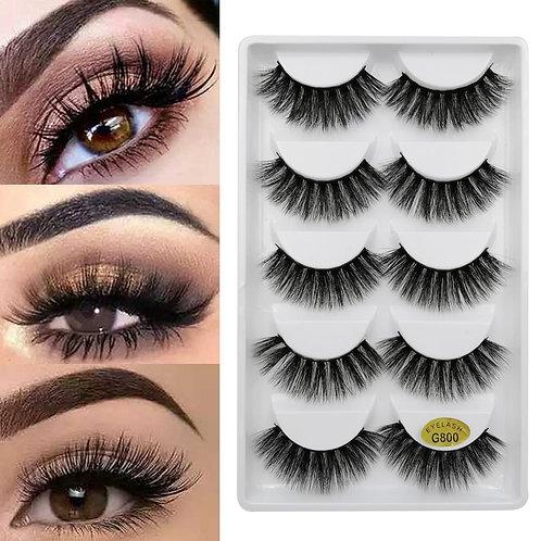3D Eye Lashes Handmade Mink Eyelashes Natural Fake Lash Make Up Mink Lashes Eyel