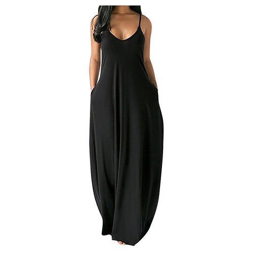 Elegant Maxi Long Dress Women's Summer Sundress 2021 Casual Sleeveless Baggy Dre