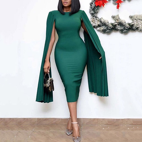 Elegant African Party Club Green Dress  3xl Plus 2020 Summer Autumn Dinner Club