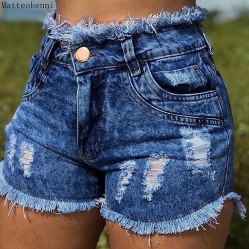 New Sexy Black Tassel Destroy Ripped Denim Shorts 2020 Summer Casual Jean Shorts