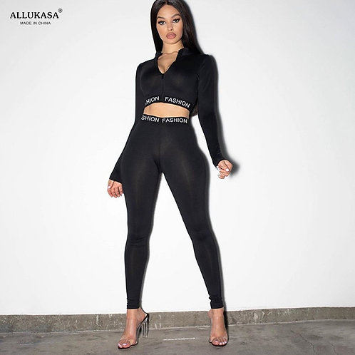 2020 Tops Letter Print Sporty Workout Active Wear Casual Matching Sets Women Ski