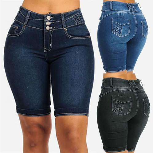 New Sexy Fashion Women Ladies Denim Skinny Shorts High Waist Stretch Bodycon Jea