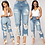 Thumbnail: Sexy Back Hole Distressed Ripped Boyfriend Jeans for Women High Waisted Destroy