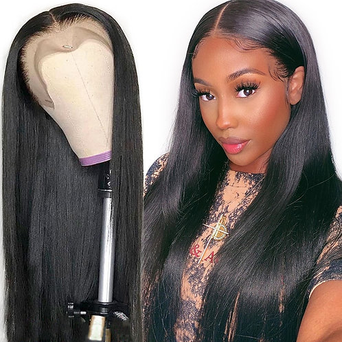 Lace Front Human Hair Wigs Straight Pre Plucked Hairline Baby Hair 13x4 Brazilia