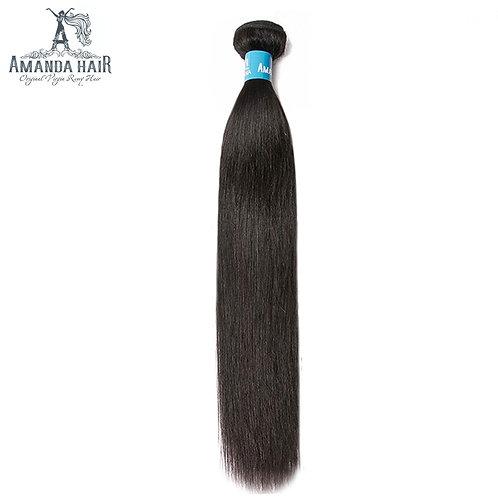 Amanda Straight Double Drawn Human Hair Weave Bundles Natural Color Unprocessed