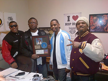Dj Dap accepts T-Pain Plaque