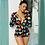 Thumbnail: 2020 Hot Sale Women Sexy Stretchy Pajamas Long Sleeve V-Neck Pineapple Star Hear