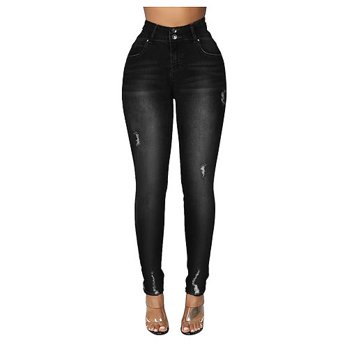 2020 Fashion Harajuku Straight Woman Jeans High Waist Paddy Denim Pants Pocket
