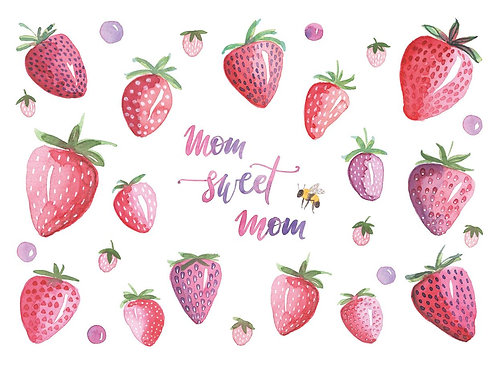 """Muttertagskarte """"Erdbeeren"""""""