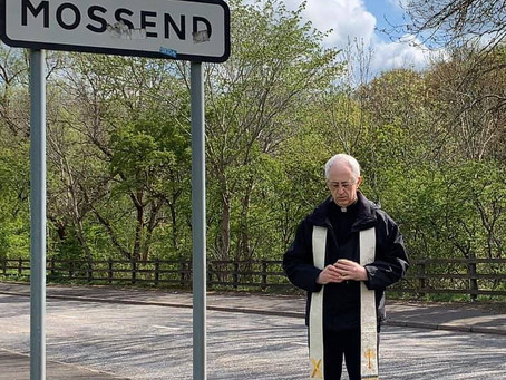 Fr Brown takes Blessed Sacrament around Mossend & Bellshill