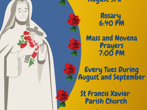 Novena to St Therese 2021