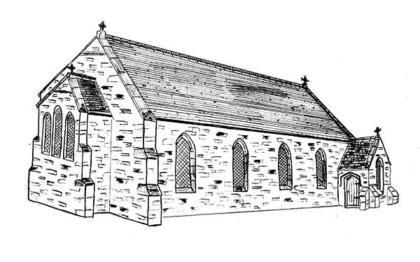 Holy Family Church Mossend 1868 Drawing.
