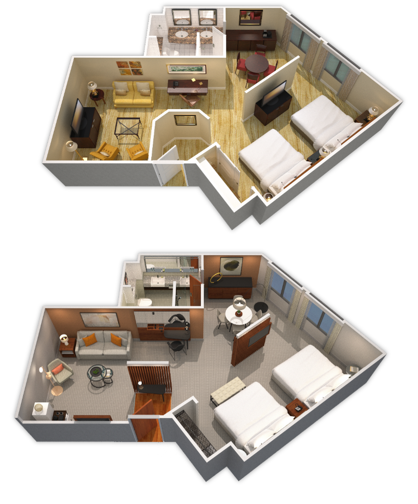 BEFORE & AFTER ROOMS