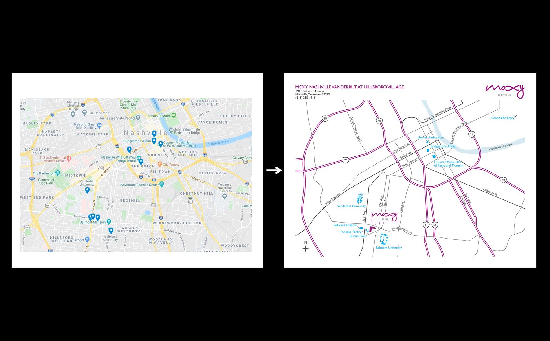 2D Moxy Brand Map