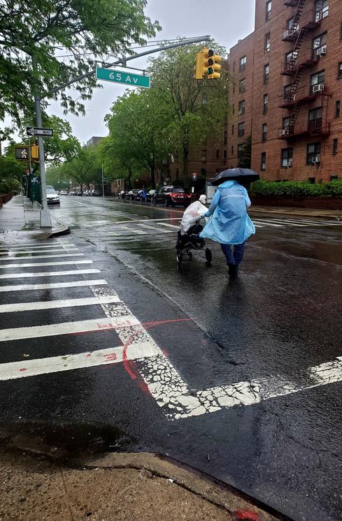 Postman  in the Rain