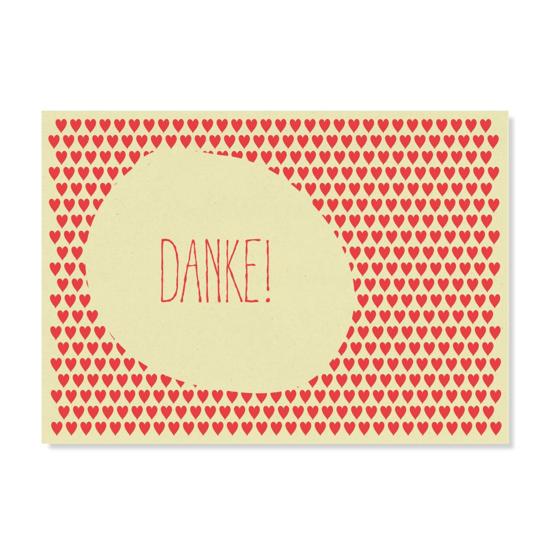 """Postkarte """"Herzliches Danke"""""""
