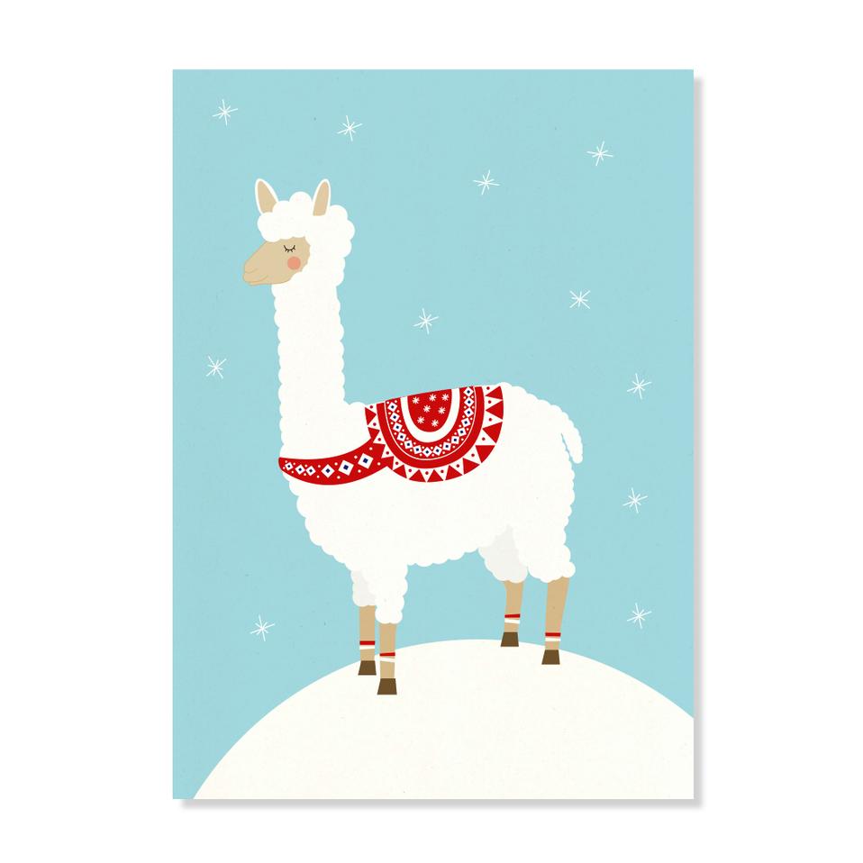 "Postkarte ""Weihnachtsalpaka"""