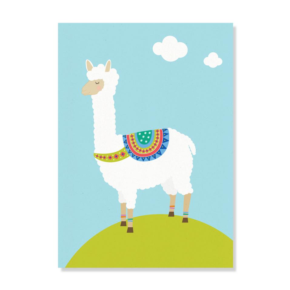 """Postkarte """"Alpaka"""""""