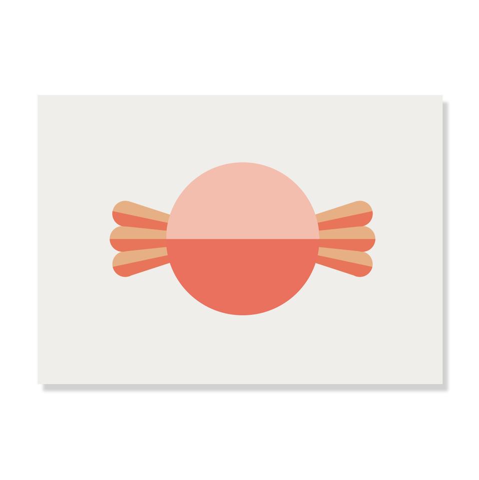 """Postkarte """"Bonbon"""""""