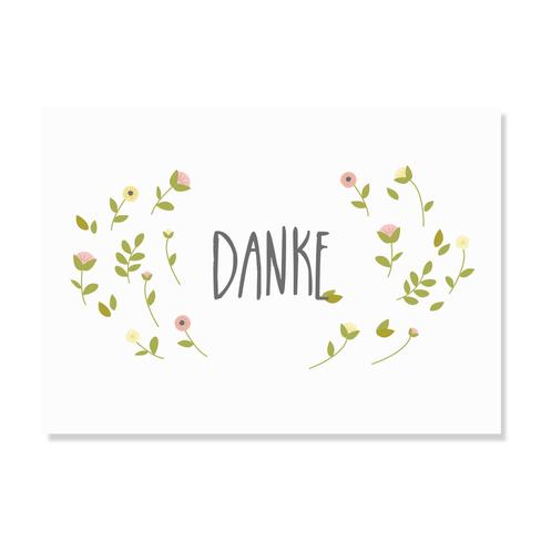 "Postkarte ""Danke"""