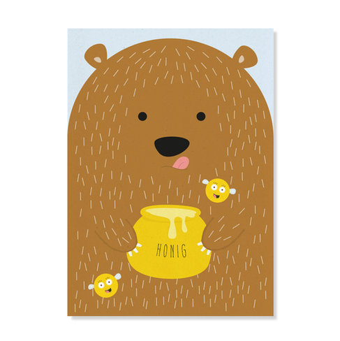 "Postkarte ""Honigbär"""