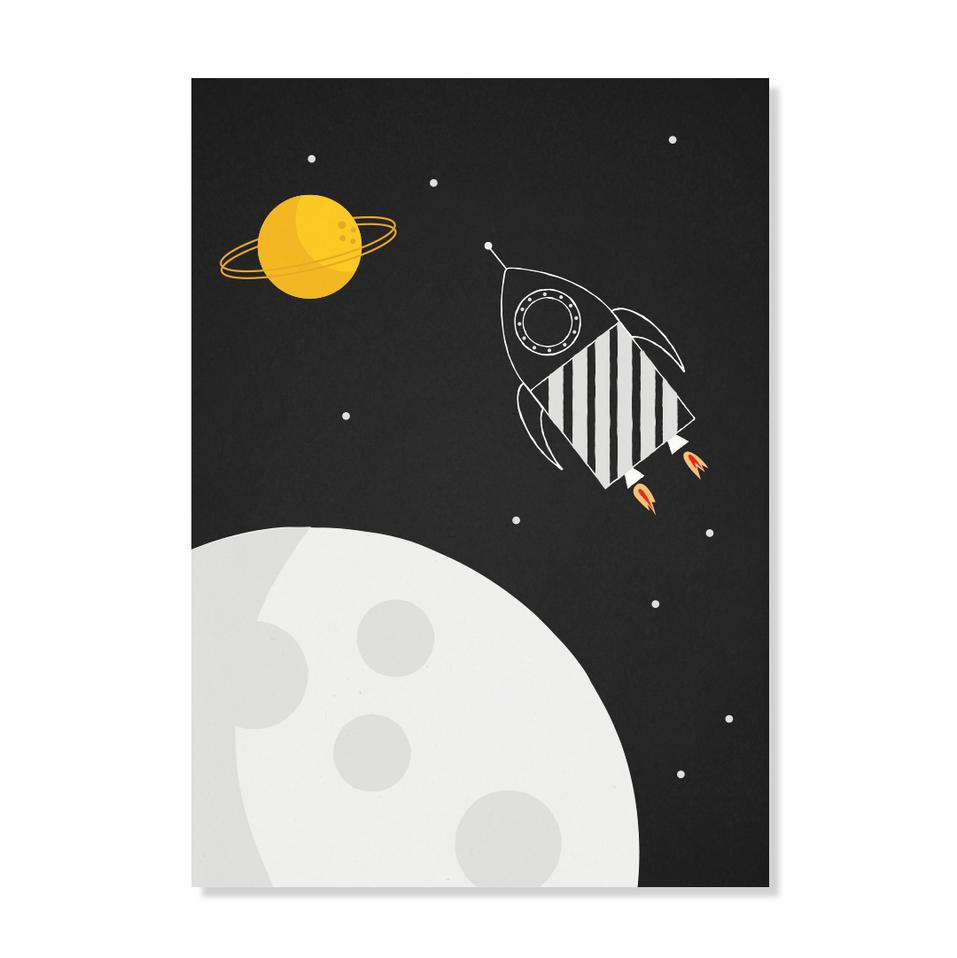 "Postkarte ""Weltraumrakete"""