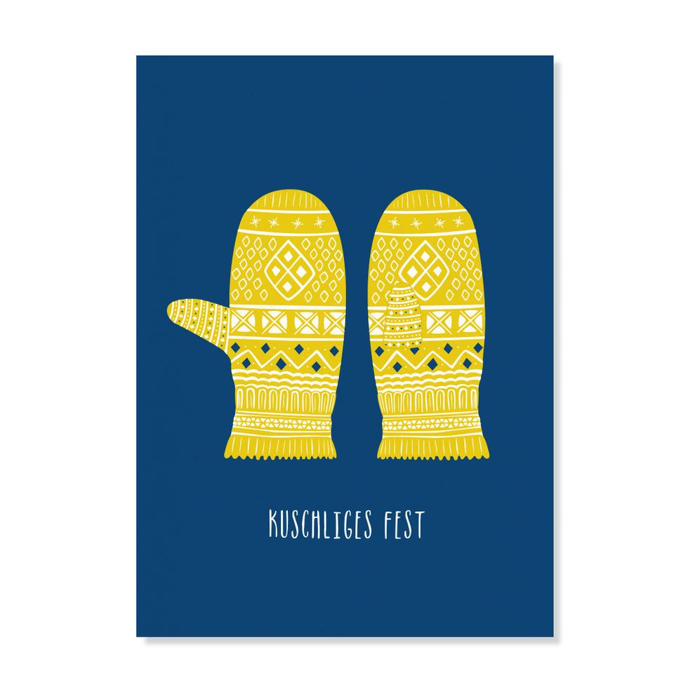"Postkarte ""Handschuhe"""
