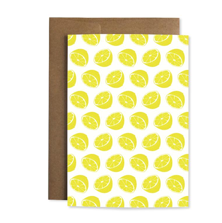 "Grußkarte ""Zitrone"""