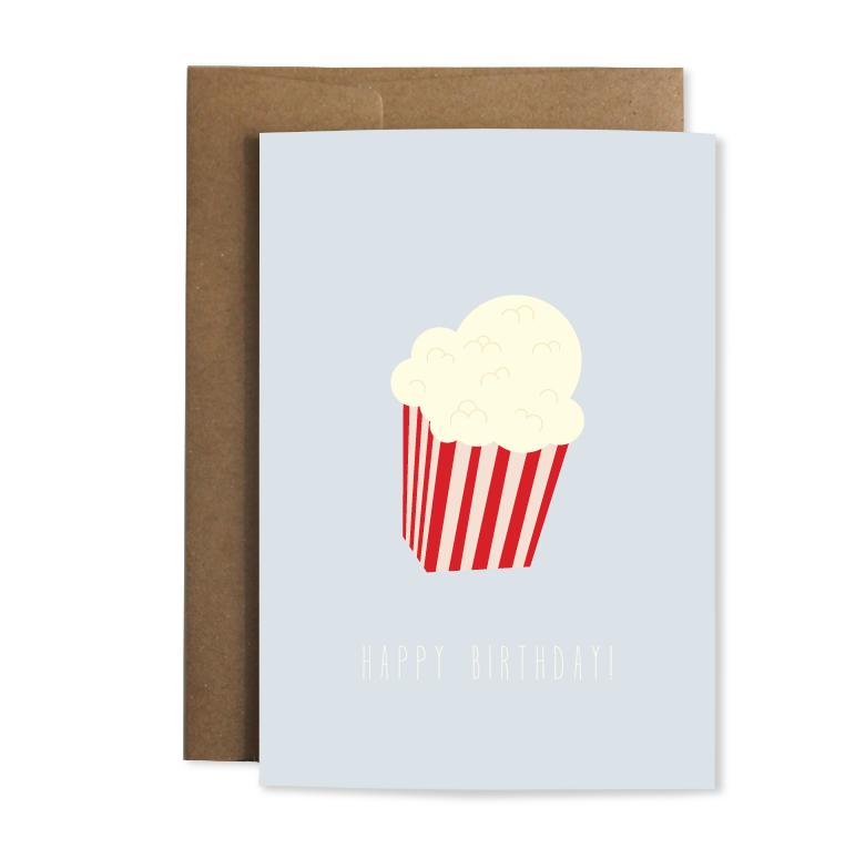 """Grußkarte """"Popcorn"""""""