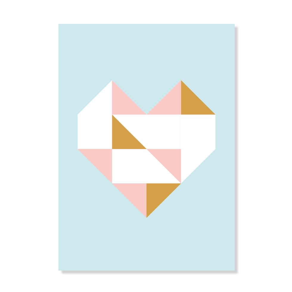"""Postkarte """"Herzgold"""""""