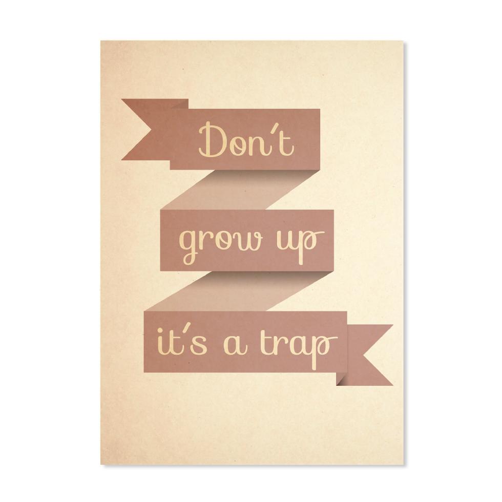 """Postkarte """"Don´t grow up"""""""